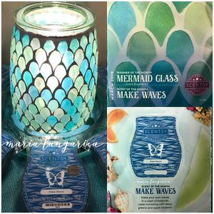Scentsy Mermaid Glass Warmer . for Sale in Whittier, CA