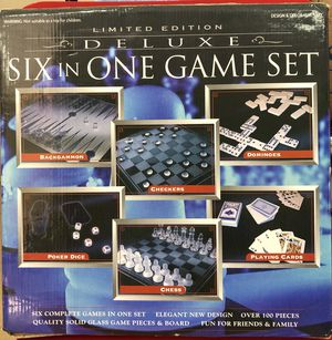 NEW LIMITED EDITION 6 IN 1 DELUXE GAME for Sale in Macomb, MI