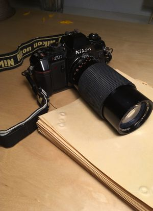 Vintage 1980s Nikon N2000 Film Camera with extended lense for Sale in Tigard, OR