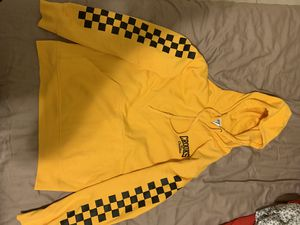 Men's yellow with black squares crooks and castles hoodie for Sale in New York, NY