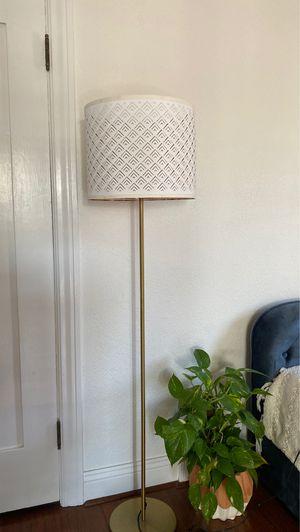 IKEA NYMO Floor Lamp - gold copper white for Sale in Santa Ana, CA