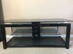 Glass tv stand for Sale in Oakland Park, FL