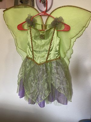 Tinkerbell costume with wings for Sale in Santa Ana, CA