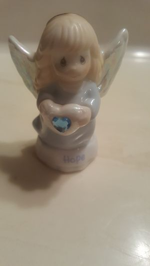 Precious Moments Hope March Angel Figurine for Sale in Houston, TX