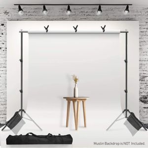 (NEW) $60 - 10'x7.3' Photography Backdrop Stand with Clamps, Sand Bag, and Carry Bag for Sale in Pomona, CA