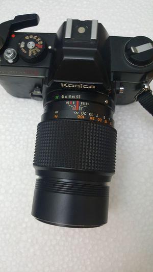 Konica Auto Reflex TC 35mm Film Camera. Lens 135mm f3.5 for Sale in Miami, FL