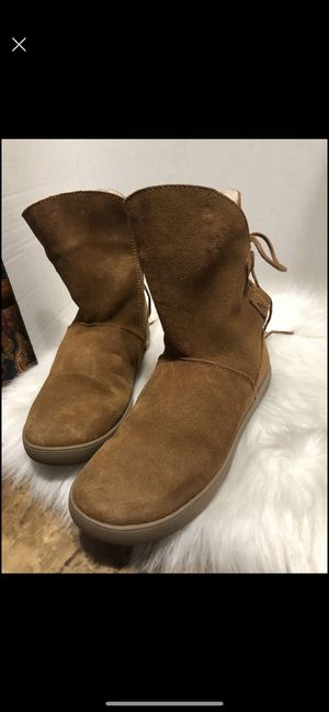 Koolaburra By UGG Womens Short Tie Lace Up Boots Brown Tan size 8 for Sale in Dearborn, MI