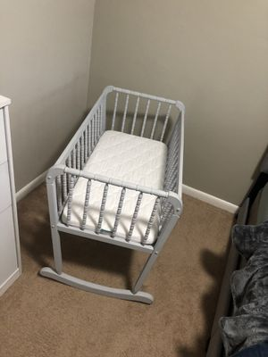 hand painted cradle and mattress for Sale in Norfolk, VA