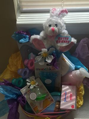 Baby girl gift basket for Sale in Raleigh, NC