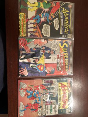 Three Vintage DC comics w/Superman for Sale in Germantown, MD
