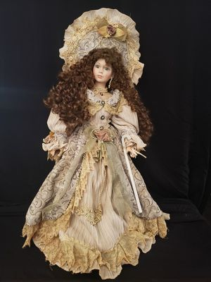Little miss muffet porcelain doll vintage 22 inches high for Sale in Upland, CA