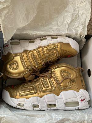 Nike x supreme uptempo gold for Sale in Woodbridge, VA