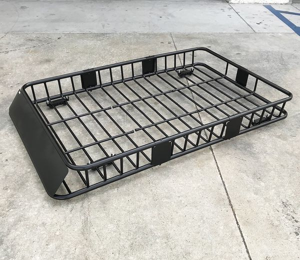 """New $110 Universal Roof Rack Car Top Cargo Basket Carrier w/ Extension Luggage Holder 64""""x39""""x6.5"""""""