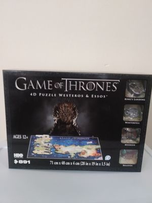 Game of Thrones 4D Puzzle- New Sealed for Sale in City of Industry, CA