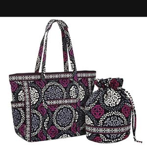 Vera Bradley Carry On Tote Bag Canterberry Magenta , Ditty Bag for Sale in Palm Beach, FL