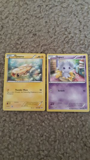 2011 Tynamo, 2016 Espurr Collectible Pokemon cards for Sale in Glendale, CA