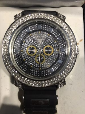 TECHNO KING DIAMOND STUD WATCH for Sale in Queens, NY
