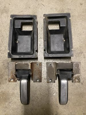 1977-1980 Chevy GMC Squarebody interior door handles bezels OEM for Sale in West Hollywood, CA