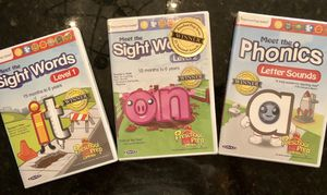 Meet the Sight Words 1/2 and Meet the Phonics DVD for Sale in Clarence, NY