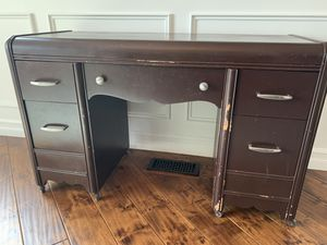 Antique Desk - painted brown for Sale in Lake Tapps, WA