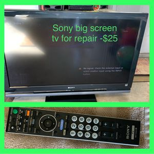 Big 45in Flat Screen Sony TV For Repair ! for Sale in West Palm Beach, FL