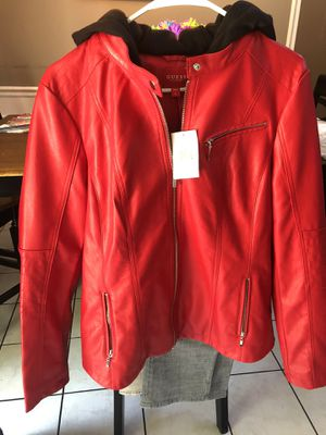 Guess leather jacket ***never worn *** for Sale in Charlotte, NC