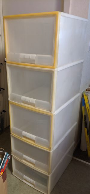 5 clear drawers for Sale in San Jose, CA