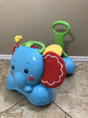Fisher Price 3 in 1 Bounce, Stride and Ride Elephant for Sale in Peoria, AZ