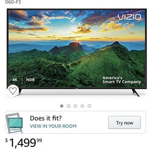 "VIZIO D-Series 60"" Class (60"" Diag.) 4K Ultra HD HDR Smart TV for Sale in Buffalo, NY"