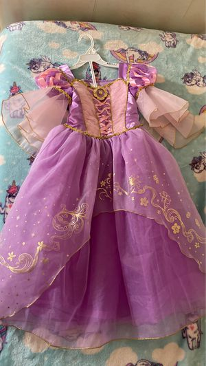 Disney Rapunzle Halloween costume with shoes size 5/6 for Sale in East Providence, RI