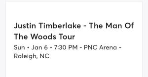Justin Timberlake tickets for Sale in Apex, NC
