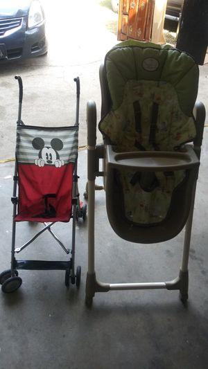 Stroller and baby hi chair for Sale in Stockbridge, GA