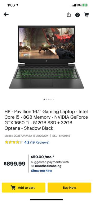 HP Gaming Laptop for Sale in York, PA