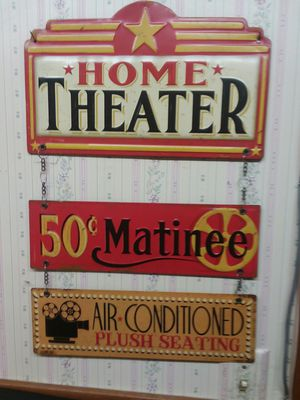 3 Piece Home Movie Sign for Sale in Sunbury, OH