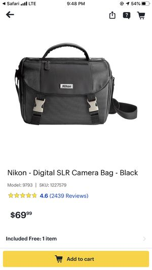 NIKON Digital SLR Camera Bag for Sale in Santa Cruz, CA