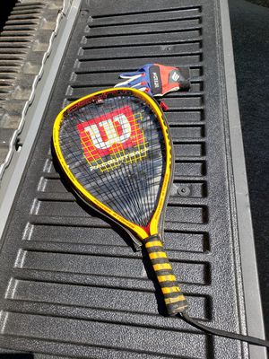 Wilson Racquetball Racquet w/cover and Glove for Sale in Arlington, TX