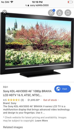 Sony With Remote Bravia LCD 1080P With Remote for Sale in Los Angeles, CA