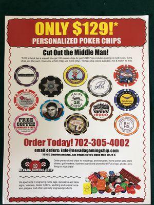 Custom poker chips ! for Sale in Las Vegas, NV