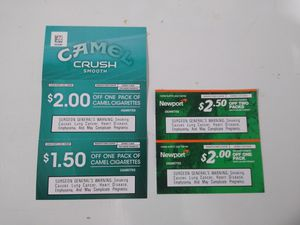 Free Coupons For Camel & Newport Cigarettes 🚬 for Sale in Chicago, IL