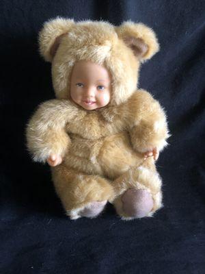 Anne Geddes Doll Baby Light Brown Bear Plush Bean Bag 1997 Stuffed for Sale in Fresno, CA