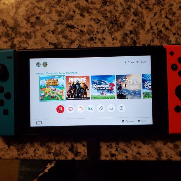 Nintendo Switch With 125gb SD Memory Card