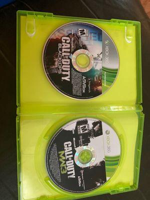 MW3 + BO1 Xbox 360 game discs for Sale in Stockton, CA