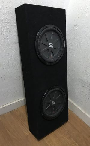 "CompRT shallow-mount 10"" subwoofers with dual 2-ohm voice coils 800Watts Each for Sale in Houston, TX"