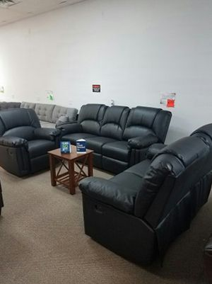 3-Pcs Reclining Living Room Set [$1299] [ONLY $50 DOWN AND 90 DAYS TO PAY SAME AS CASH] for Sale in Irving, TX