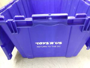 Warehouse Storage Bins Collectors ToysRUS LOGO Garage Moving Toys R Us-$12 for Sale in Dallas, TX