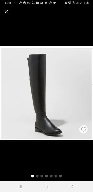 Over the knee boots black size 8 medium for Sale in Silver Spring, MD
