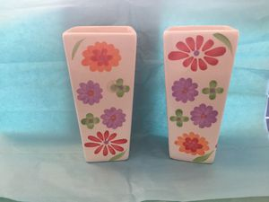 Pair flower 60s style vases for Sale in Spring Hill, FL