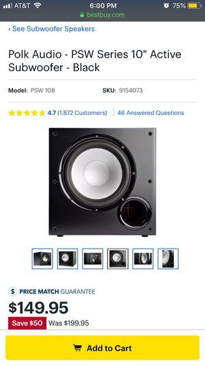 Polk audio sub still in box for Sale in Glenolden, PA