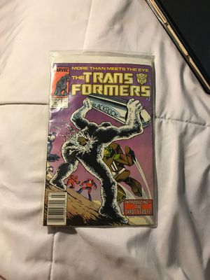 Marvel The Transformers comic book 1985 in plastic for Sale in Eau Claire, WI