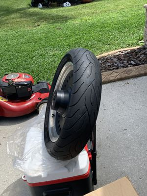 Front Rim free, Tire $200 obo New condition never rode on for Sale in Riverview, FL